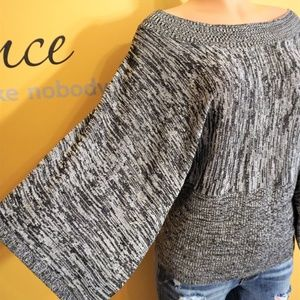 Brittany Black Wide Sleeve Shirt Size XLarge